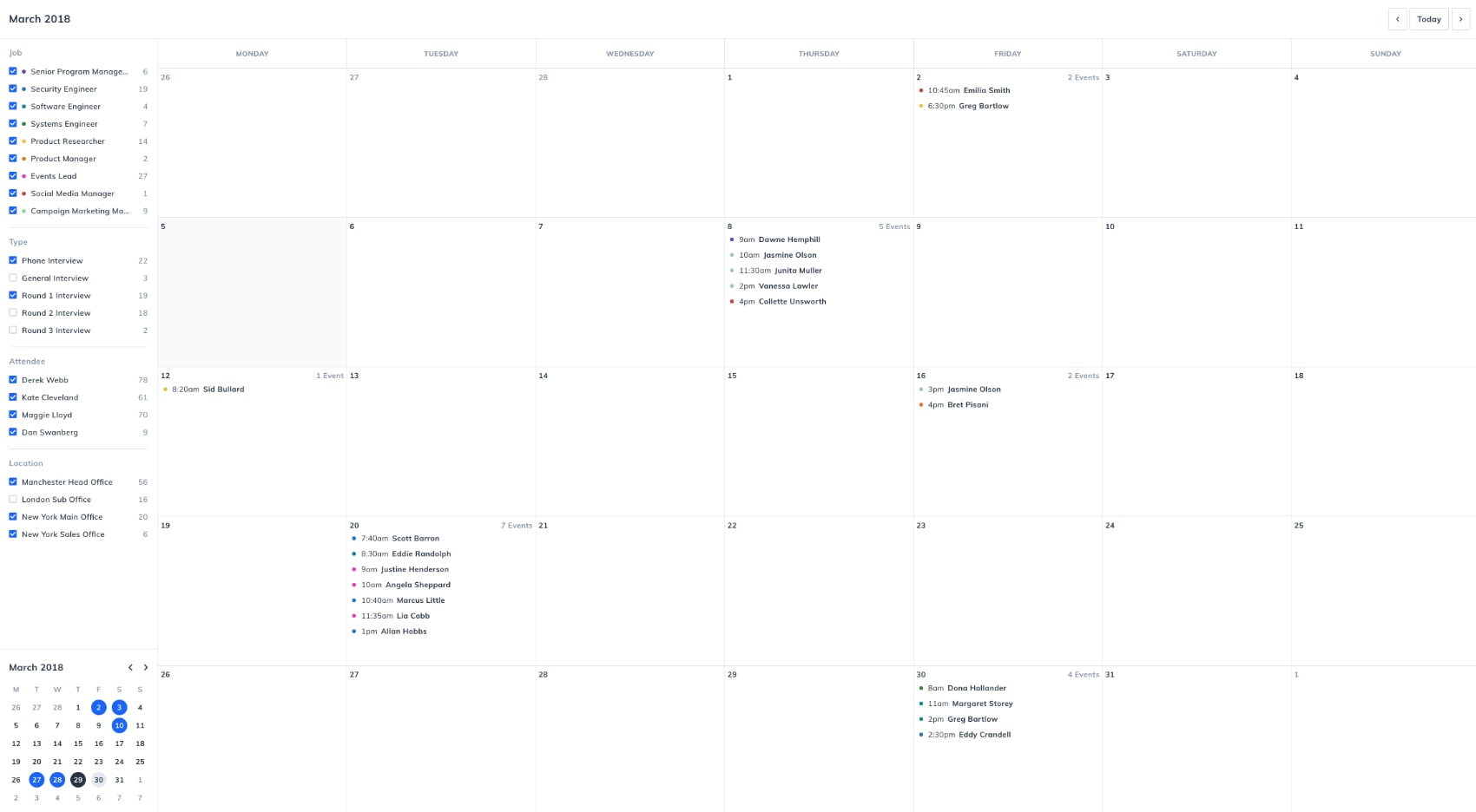 Interview Scheduling Software Image