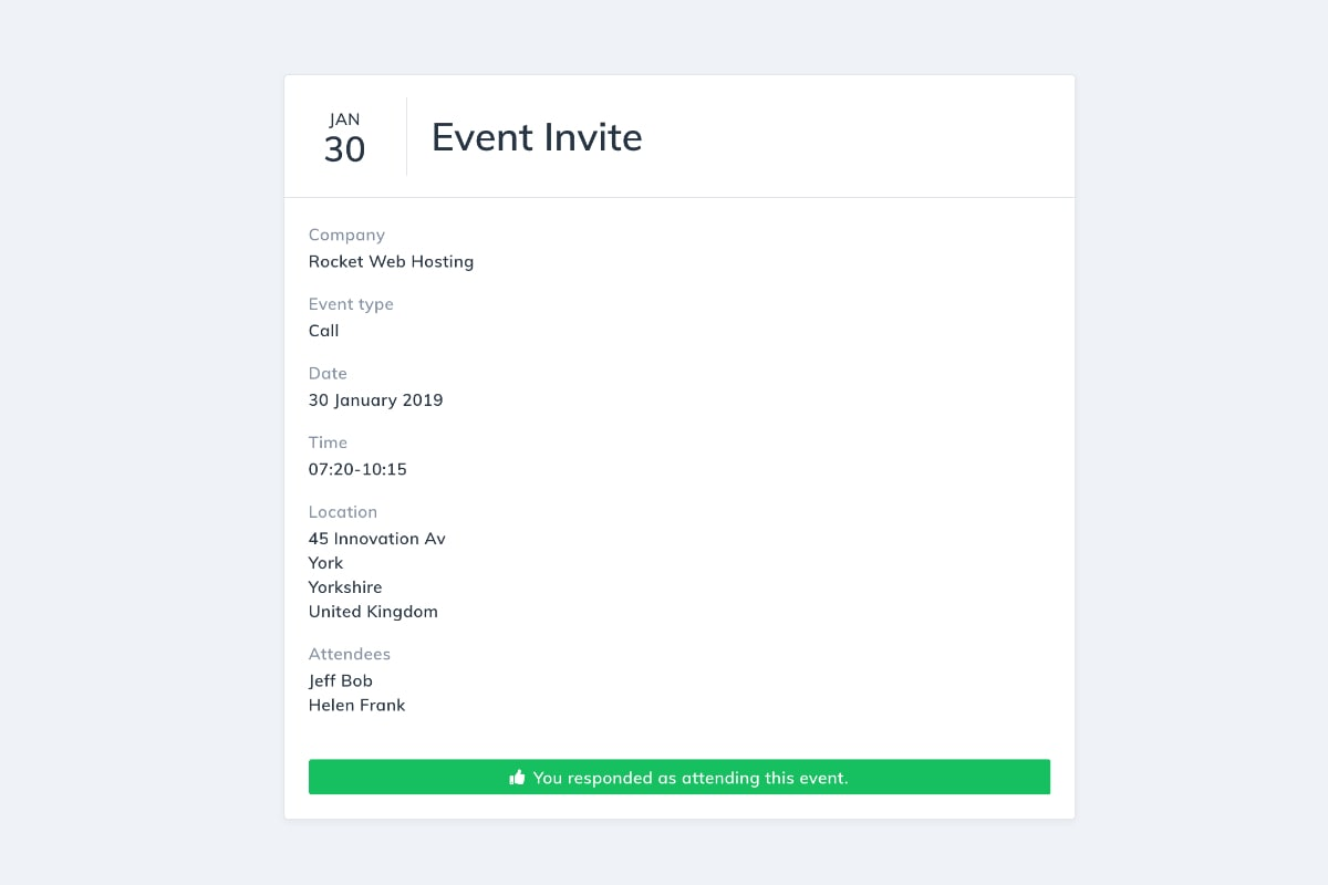 Event Request Feature